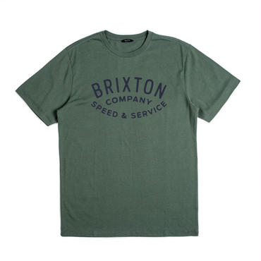 "【BRIXTON】GASKET S/S TEE (PREMIUM FIT) ""CHIVE"""