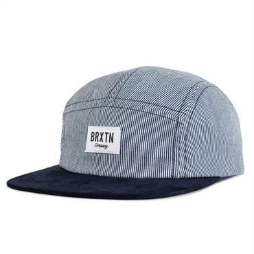 "【BRIXTON】HOOVER 5 PANEL CAP ""Navy/White"""