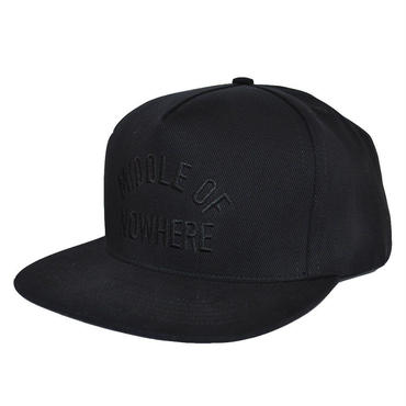 "【THE QUIET LIFE】MIDDLE OF NOWHERE SNAPBACK CAP ""BLACK"""