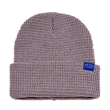 "【THE QUIET LIFE】WAFFLE BEANIE ""HEATHER GREY"""