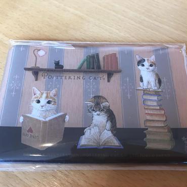 ポタリングキャット カードマグネット 読書