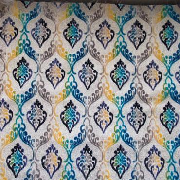 モロッコインテリア生地・リバーシブル「グラデーションブルー」147×70cm