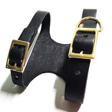 フトアゴ用レザーハーネス-ブラック(TYPE-01-BK-BODY)