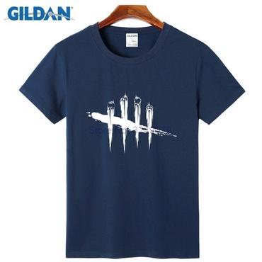 デッド バイ デイライト(Dead By Daylight)  Tシャツ ロゴ ホワイト 紺