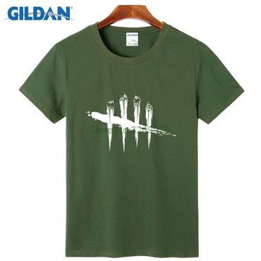 デッド バイ デイライト(Dead By Daylight)  Tシャツ ロゴ ホワイト 緑
