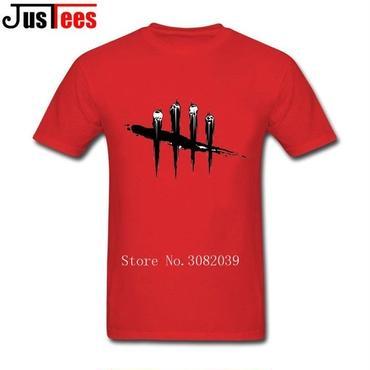 DBD デッドバイデイライト DEAD BY DAYLIGHT Tシャツ ロゴ ブラック  赤