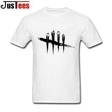 DBD デッドバイデイライト DEAD BY DAYLIGHT Tシャツ ロゴ ブラック 白