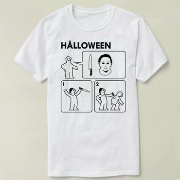 ハロウィーン マイケルマイヤーズ (Halloween Michael Myers)シンプルデザインTシャツ