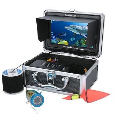 50Mケーブル GAMWATER 7インチモニター 1000tvl 水中カメラ 水中釣りカメラキット12白色LEDライト 釣りカメラ フィッシング