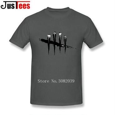 DBD デッドバイデイライト DEAD BY DAYLIGHT Tシャツ ロゴ ブラック  ダークグレー