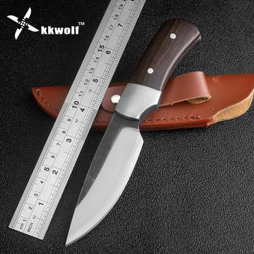 高炭素鋼ナイフ手作り鍛造固定刃ナイフアウトドアキャンプサバイバルナイフ黒檀ハンドル