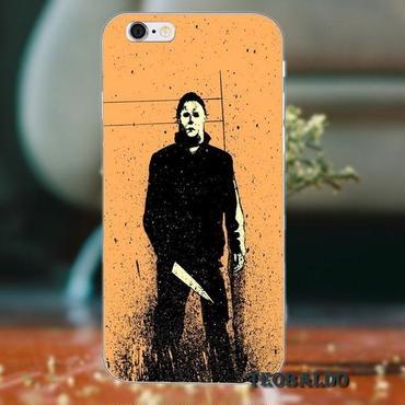 ハロウィーン マイケルマイヤーズ (Halloween Michael Myers)スマホケース カバー 保護ケース シリコン製 iphone用 19