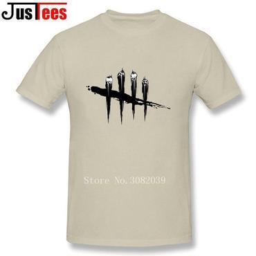 DBD デッドバイデイライト DEAD BY DAYLIGHT Tシャツ ロゴ ブラック ベージュ