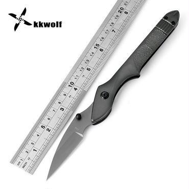 Kkwolf折りたたみナイフポータブルポケットナイフ高品質サバイバルキャンプナイフアルミハンドル