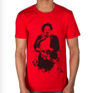 悪魔のいけにえ(TEXAS CHAINSAW MASSACRE)Leatherface 2 Tシャツ映画