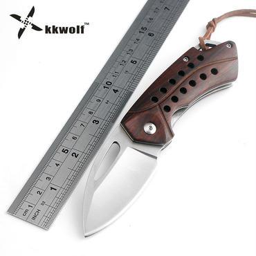 Kkwolf d2鋼折りたたみナイフポケットナイフキャンプナイフアウトドアナイフ