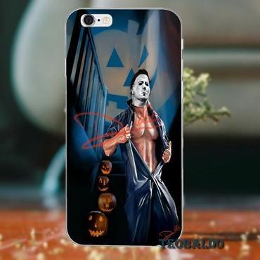 ハロウィーン マイケルマイヤーズ (Halloween Michael Myers)スマホケース カバー 保護ケース シリコン製 iphone用 23