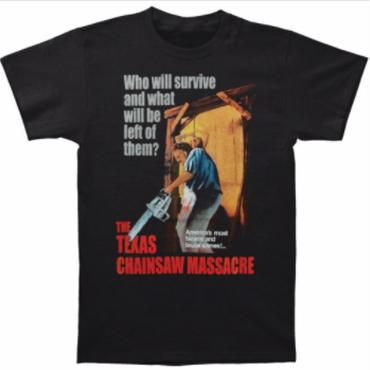 悪魔のいけにえ(TEXAS CHAINSAW MASSACRE)メンズ奇妙残忍な犯罪TシャツサイズS-3XLショート男性クルーネックシャツ