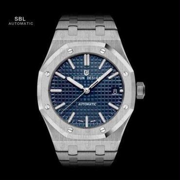★高級腕時計★/DIDUN DESIGN正規品/メンズ機械式腕時計/30m耐水性/耐衝撃/ステンレスベルト/ラグジュアリー/ビジネス/SBL