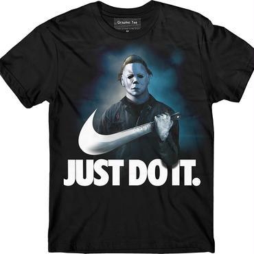 ハロウィーン マイケルマイヤーズ (Halloween Michael Myers)ソリッドホラー映画ハロウィンマスクTシャツ JUST DO IT. メンズ