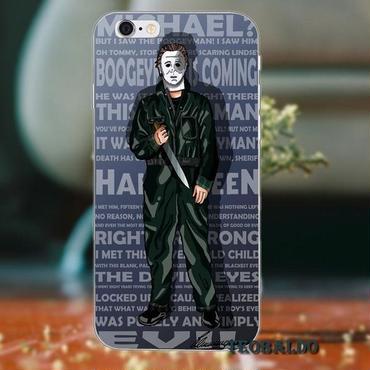 ハロウィーン マイケルマイヤーズ (Halloween Michael Myers)スマホケース カバー 保護ケース シリコン製 iphone用 24