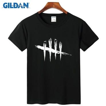 デッド バイ デイライト(Dead By Daylight) Tシャツ ロゴ ホワイト 黒 メンズ  ヒップホップ