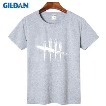 デッド バイ デイライト(Dead By Daylight)  Tシャツ ロゴ ホワイト ライトグレー