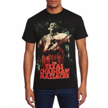 悪魔のいけにえ(TEXAS CHAINSAW MASSACRE)夏のファッション Tシャツ Free 半袖 パンク Tシャツ