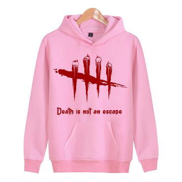デッド バイ デイライト(Dead By Daylight) ロゴパーカー フード ジップアップ スウェット ピンク