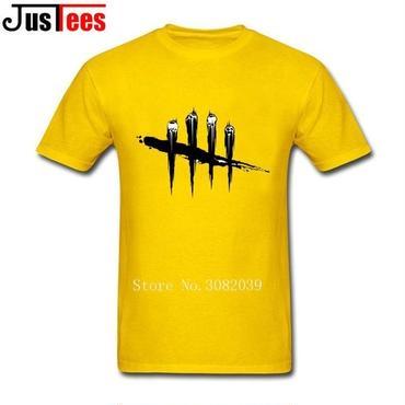 DBD デッドバイデイライト DEAD BY DAYLIGHT Tシャツ ロゴ ブラック 黄