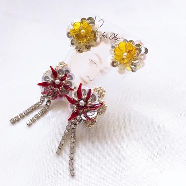 flowersイヤリング