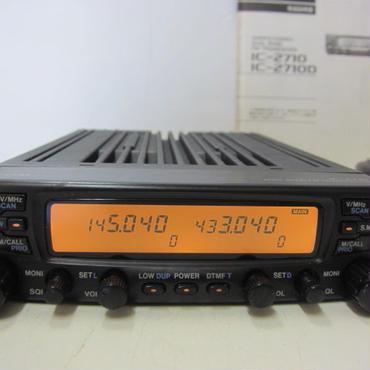 アイコム IC-2710 144/430MHz デュアルバンド FM 20W トランシーバー★メーカーサービスにて点検・整備済・中古品(新スプリアス規格適合品)★