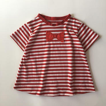muu muu / BIG RIBBON T / RED