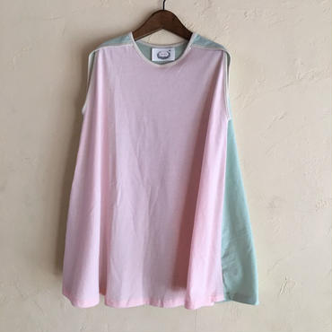 ★SAMPLE★muu muu  mix CUT DRESS / pink mix  110
