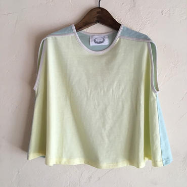 muu muu / mix CUT TOP / yellow mix