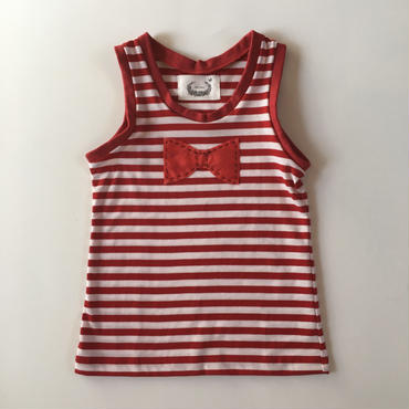 muu muu / BIG RIBBON TANK / RED