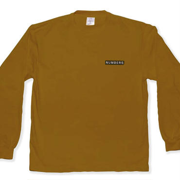 NUMBERS edition -LOGOTYPE-L/S T-SHIRT