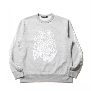 COOTIE - Print Crewneck L/S Sweatshirt (GIVE'EM HELL)
