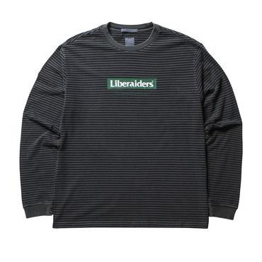 LIBERAIDERS - LIBERAIDERS ロゴ ボーダー L/S TEE (ブラック)