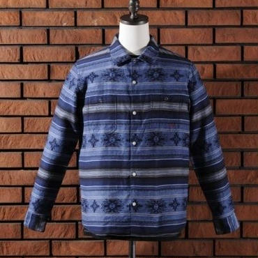 FINDERS KEEPERS NATIVE FLANNEL L/S (BLUE)