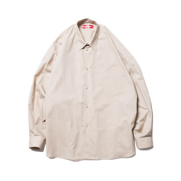 BONES AND BOLTS - O.S. L/S SHIRT (BROAD CLOTH) BEIGE