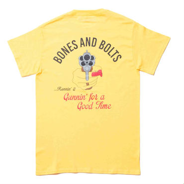 BONES AND BOLTS - TEE (GOOD TIME) イエロー