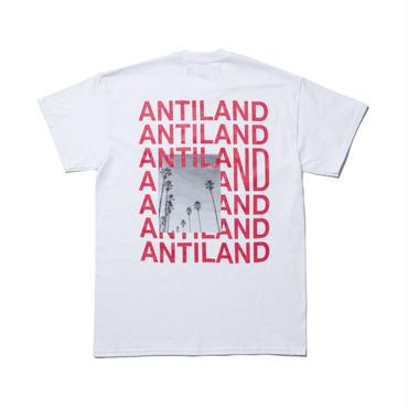 BONES AND BOLTS -TEE (ANTILAND) ホワイト