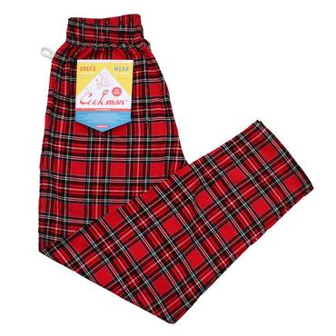 COOK WEAR - Chef Pants 「コーデュロイ タータン」レッド