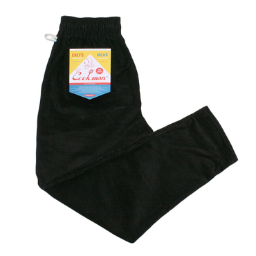 COOK WEAR - Chef Pants 「コーデュロイ」 ブラック