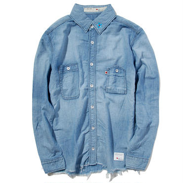 BLUE SAKURA DUNGAREE SHIRTS C/O