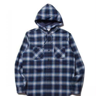 COOTIE - FLANNEL CHECK L/S HOOD SHIRTS