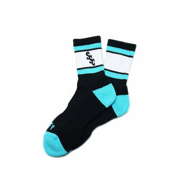 SURF SKATE CAMP - S.S.C Sports Socks(ブラック)