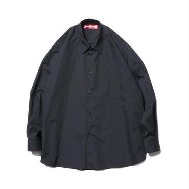BONES AND BOLTS - O.S. L/S SHIRT (BROAD CLOTH) BLACK