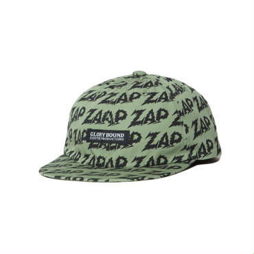 COOTIE - Zap All Over 6 Panel Flat Visor Cap